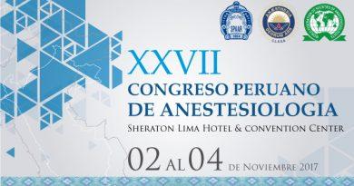 XVII Congreso Peruano de Anestesiología