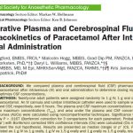 Comparative plasma and cerebrospinal fluid pharmacokinetics of paracetamol after intravenous and oral administration