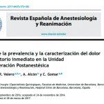 Estudio de la prevalencia y la caracterización del dolor postoperatorio inmediato en la Unidad de Recuperación Postanestésica