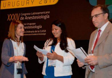 Premiación en ANESTESIA REGIONAL convocado en el XXXIV Congreso Latinoamericano de Anestesiología
