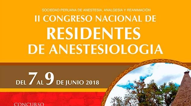 II Congreso Nacional de Residentes de Anestesiología 2018