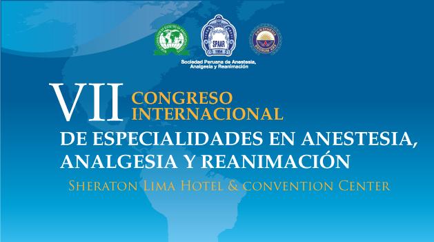 VII Congreso Internacional de Especialidades en Anestesia, Analgesia y Reanimación 2018