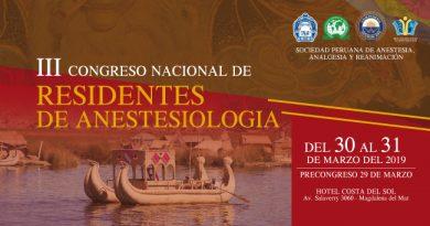 III Congreso Nacional de Residentes de Anestesiología SPAAR 2019