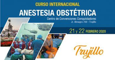 Curso Internacional Anestesia Obstétrica – 21 y 22 febrero 2020